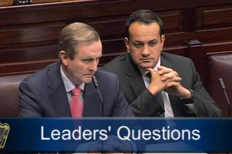Taoiseach Enda Kenny and Transport Minister Leo Varadkar in the Dáil today