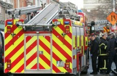Guinness truck catches fire in Dublin