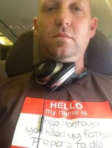 Princess Bride 'prepare to die' tshirt causes problems on flight