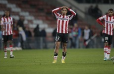 VIDEO: 3 PSV Eindhoven players miss 3 chances from point blank range within seconds of each other