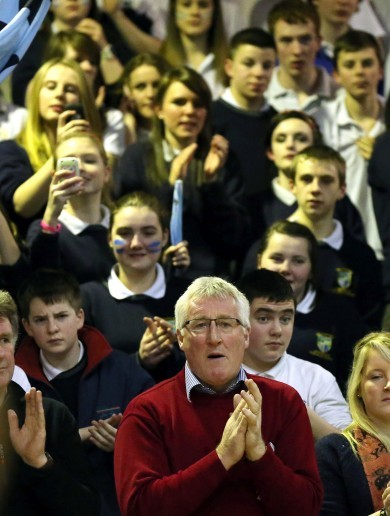 Snapshot: Pat Spillane courtside for son's All-Ireland title bid in Tallaght