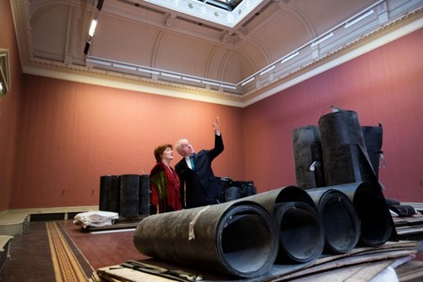 Minister for Arts Jimmy Deenihan and Dr Olive Braiden, Chair of the Board of the National Gallery of Ireland in the Baroque Gallery in the Dargan Wing of the National Gallery of Ireland today