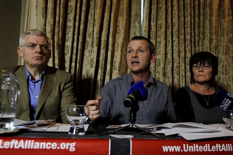 Joe Higgins (left) will no longer be counted among the ULA's Dail ranks after the Socialist Party quit the alliance.