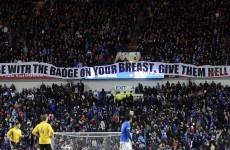 VIDEO: Lone piper's tribute to late Rangers fan during Ibrox minute's silence