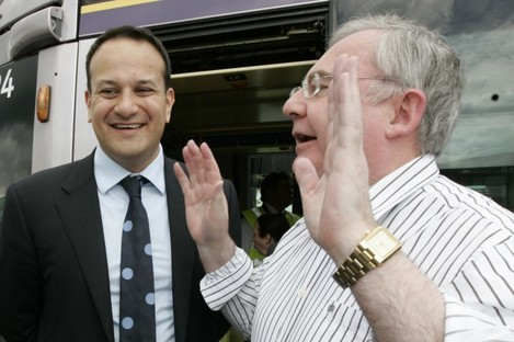 Leo Varadkar and Pat Rabbitte (File photo)