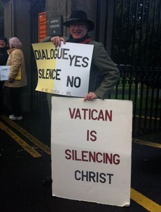 Protest at Papal Nunciature over treatment of Fr Tony Flannery