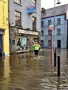 PIC: Galway hit by flash floods as weather warning issued