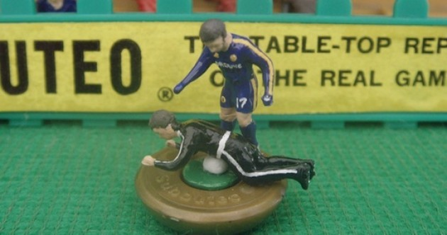 Flick to kick... the ballboy: Get your Eden Hazard Subbuteo figurines while they're hot