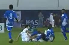 VIDEO: 'Zizou Junior' sent off for lashing out in youth game
