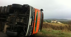 High winds cause truck to overturn in Co Laois