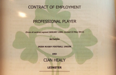 So this is what an IRFU contract looks like