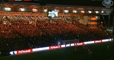 Lights out: Manchester United's game with Fulham brought to a halt as Craven Cottage floodlights fail