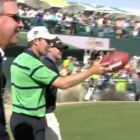 VIDEO: Padraig Harrington kicks a sweet field goal at the Phoenix Open