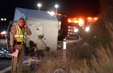 Eight killed in California tour bus crash