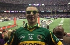 Kerry's Kieran Donaghy shows true colours at New Orleans Super Bowl last night