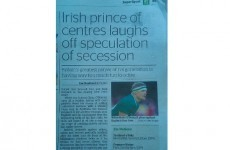 So, a newspaper in New Zealand reckons Brian O'Driscoll is 'Britain's greatest' rugby star