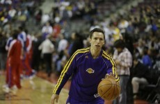 VIDEO: LA Lakers star Steve Nash shows off his soccer skills during game with Boston Celtics last night