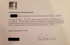 PIC: Dad pays daughter $200 in 'Facebook deactivation agreement'