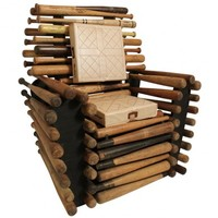 Someone is selling this uncomfortable-looking chair made out of baseball bats for $2,500