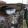 Wall collapses at Ringsend Bridge (Photos)