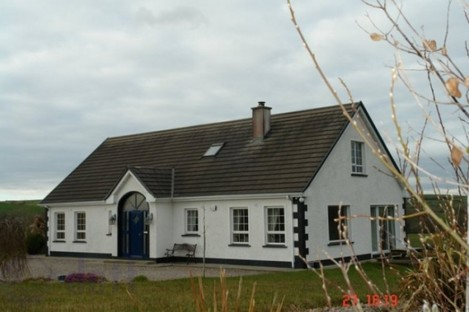 An estate agent's photograph of the five-bedroom house in Ballyshannon, which was destroyed by a fire yesterday.