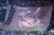 London Calling: Check out the banner of the night at Celtic Park