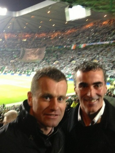 Snapshot: Shay Given and Jim McGuinness get behind Celtic in Glasgow