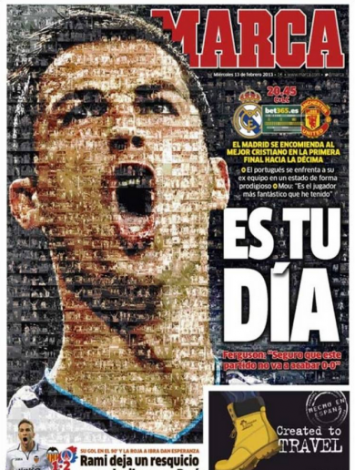 'It's Your Day' - Marca creates stunning front page for Real v Man Utd clash