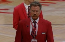 Will Ferrell worked as a Lakers security guard and escorted Shaq from the game