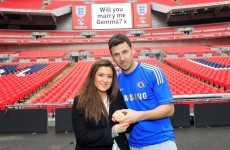 Nothing says I love you like... Darren Barker proposes to girlfriend at pre-fight photo shoot