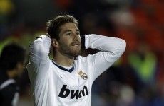 Sergio Ramos scores, then gets booked twice in a minute, as Real win