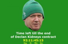 Someone's set up a website counting down to the end of Declan Kidney's contract