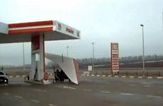 VIDEO: Fill 'er up! Plane visits petrol station... then takes off