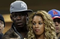 Snapshot: This is how Mario Balotelli is spending his night at the San Siro
