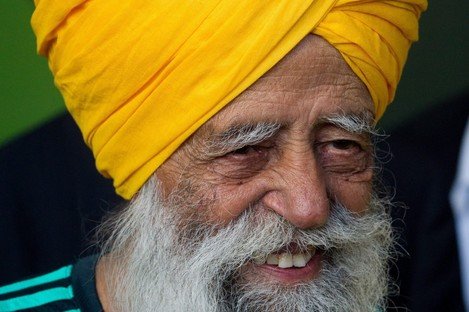 One-hundred-and-one-year-old marathoner Fauja Singh.