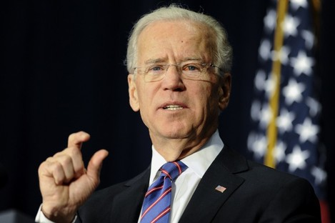 Vice President Joe Biden gestures as he speaks at a gun violence conference in Danbury, Connecticut.