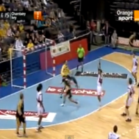 VIDEO: Without doubt the flukiest handball goal we've ever seen