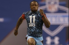 VIDEO: Marquise Goodwin is the second fastest player in NFL combine history