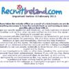 RecruitIreland offline after 400,000 email addresses hit in data breach