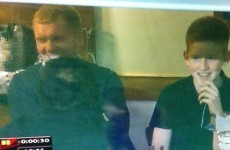 Snapshot: Oldham fan Paul Scholes is at Goodison Park for Latics' cup replay