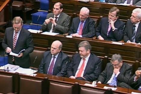 The Taoiseach speaking during Leaders' Questions today