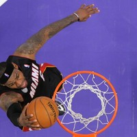 LeBron James threw down another spectacular pre-game dunk last night