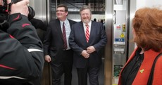 Reilly gets stuck in lift at opening of mental health facility
