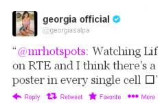 Tweet Sweeper: Georgia Salpa is the top prisoners' pin-up