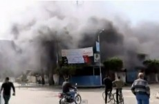 Egypt protesters torch police station in Port Said