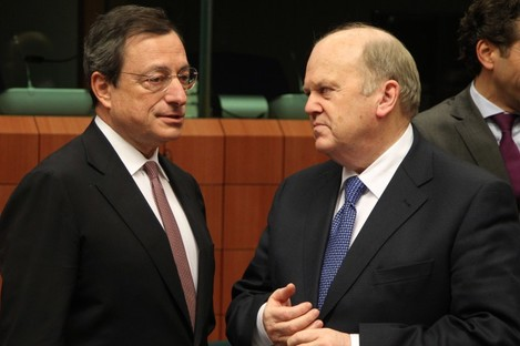 Mario Draghi and the ECB wouldn't need to approve any new deal about the bank's profits from Irish bonds.
