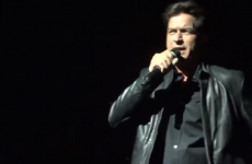 VIDEO: Charlie Sheen tries out Irish accent onstage at Dublin Slash gig