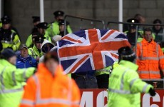 Arrests made as Union Jack is raised at Tallaght Stadium by Linfield fans
