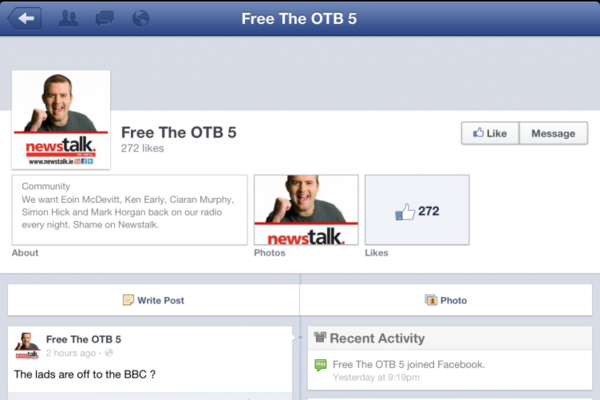 There's even a 'Free The OTB 5' Facebook page now · The42