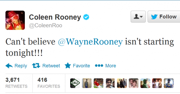 Wayne Rooney benched for United-Madrid clash, Coleen not happy